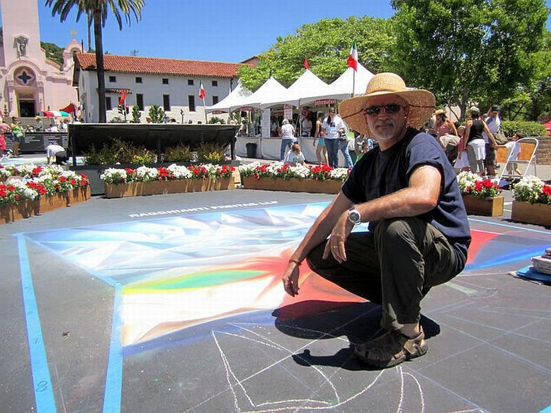 Bruno Fabriani Street Painting at San Rafael 2010 1