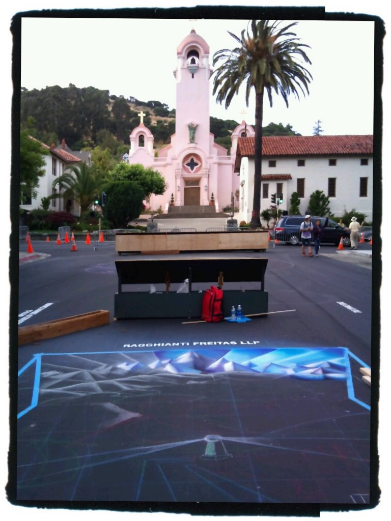 Bruno Fabriani Street Painting Start at San Rafael 2010