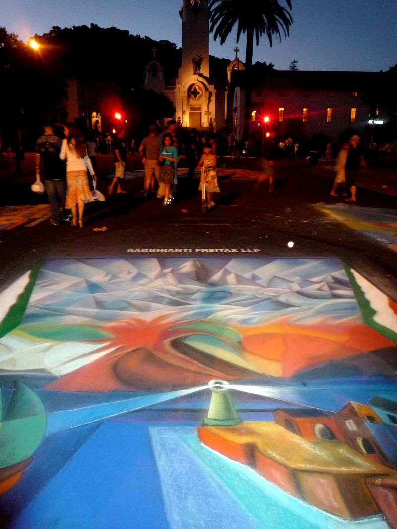 Bruno Fabriani Feature Street Painting Night at San Rafael 2010