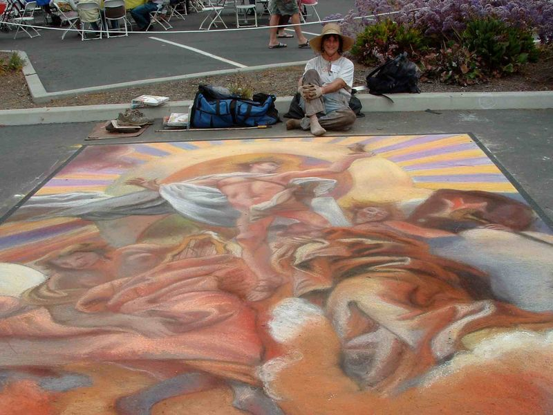 LMiller w LaJolla Streetpainting 2010