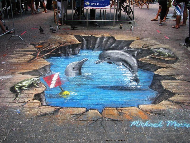 blog now on streetpainting tv 4d street painting art 3d street
