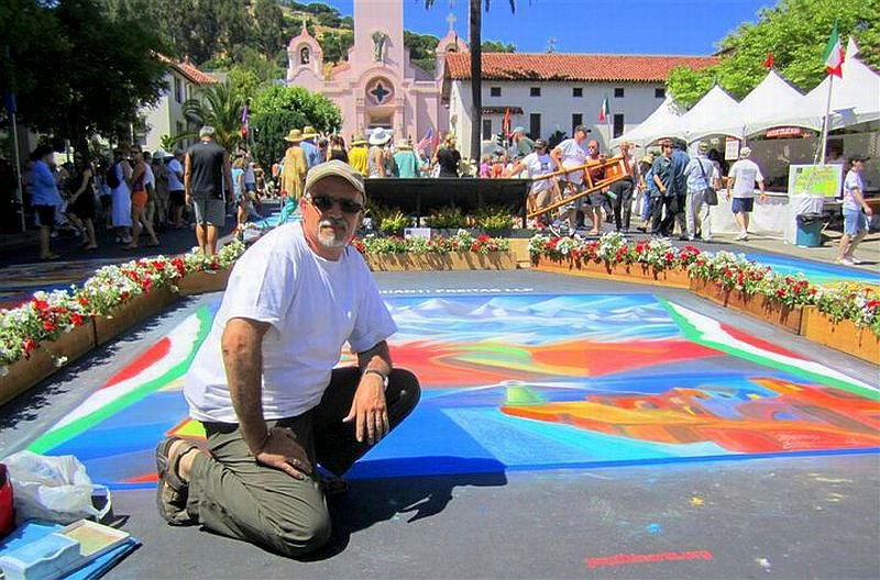 Bruno Fabriani Street Painting at San Rafael 2010 2