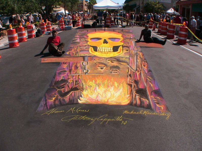 AfAH at Sarasota Chalk Festival 2010 final