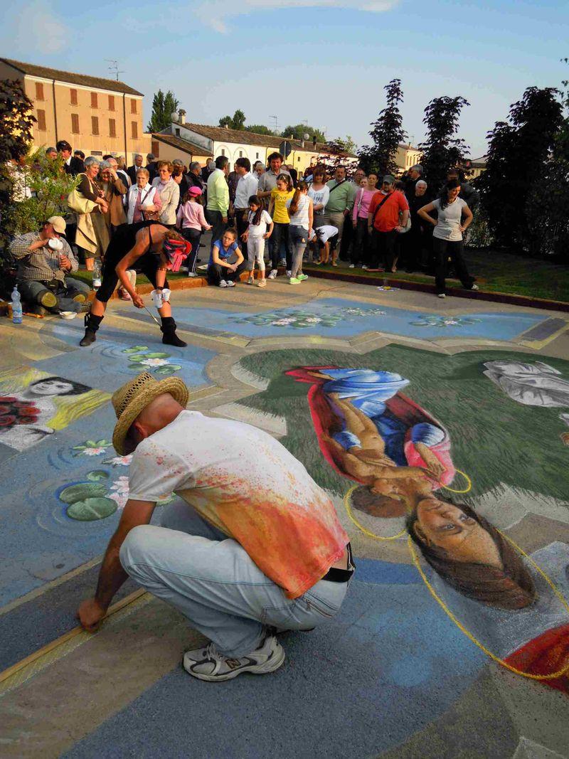 Maestri Mariano Bottoli e Michela Bogoni working on the piece Grazie 2011