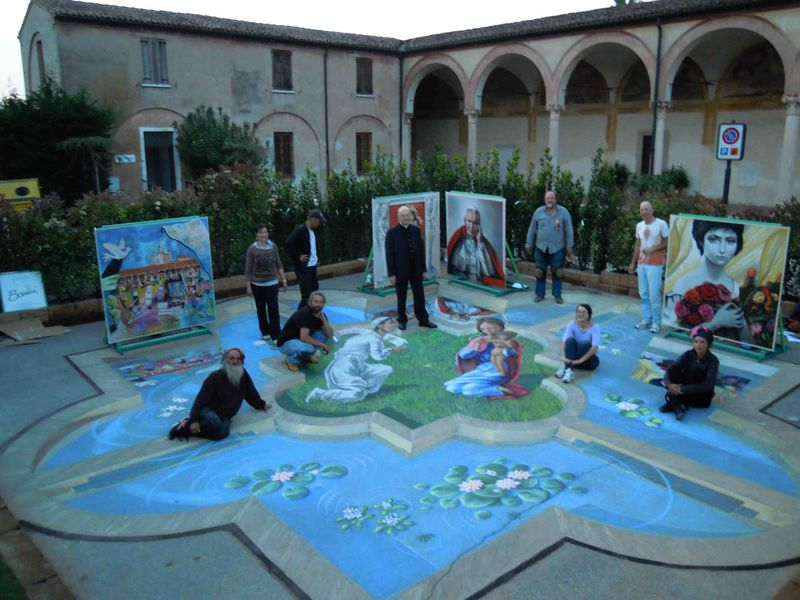 Grazie artists with monsignor Egidio Caporello 2011